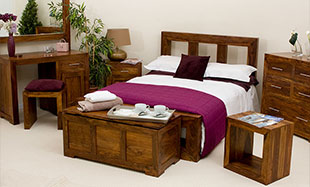 Cube Sheesham Bedroom Furniture
