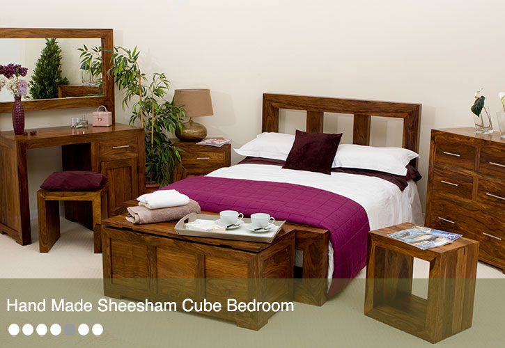 Cube Sheesham Bedroom