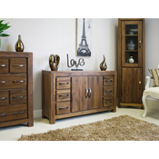 Dhaka Walnut Six Drawer Sideboard