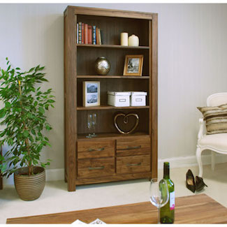 Dhaka Walnut 4 Drawer Bookcase