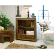 Dhaka Walnut Low Bookcase
