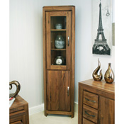 Dhaka Walnut Corner Display Cabinet
