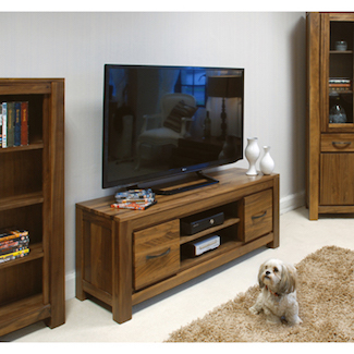 Dhaka Walnut Low TV Cabinet