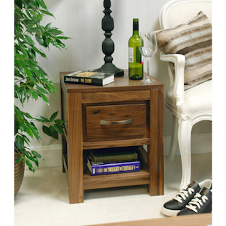 Dhaka Walnut 1 Drawer Lamp Table