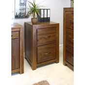 Dhaka Walnut 2 Drawer Filling Cabinet