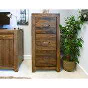 Dhaka Walnut 3 Drawer Filling Cabinet