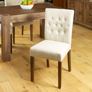 Dhaka / Nepal Cream Button Dining Chair