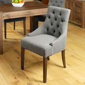 Dhaka / Nepal Slate Button Wing Dining Chair