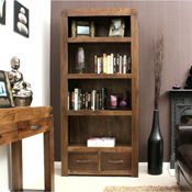 Nepal Walnut Large Bookcase