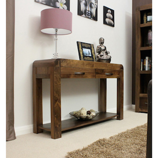 Nepal Walnut Console Table
