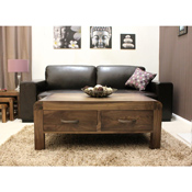 Nepal Walnut 4 Drawer Coffee Table