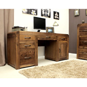 Nepal Walnut Double Pedestal Desk