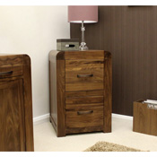 Nepal Walnut 2 Drawer Filling Cabinet