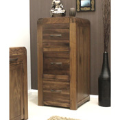 Nepal Walnut 3 Drawer Filling Cabinet