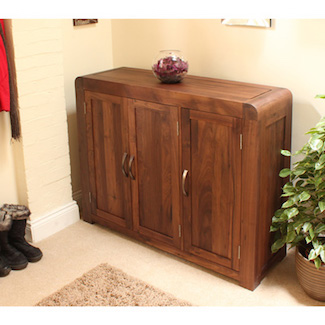 Nepal Walnut Large Shoe Cupboard