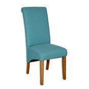 Aqua Fabric Skirt Dining Chair