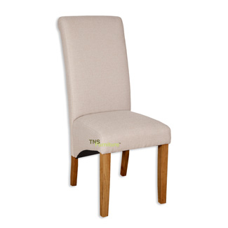 Natural Fabric Skirt Dining Chair