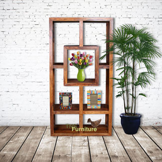 Mansa Sheesham Geometric Bookcase