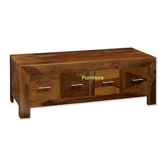 Cube 4 Drawer Coffee Table