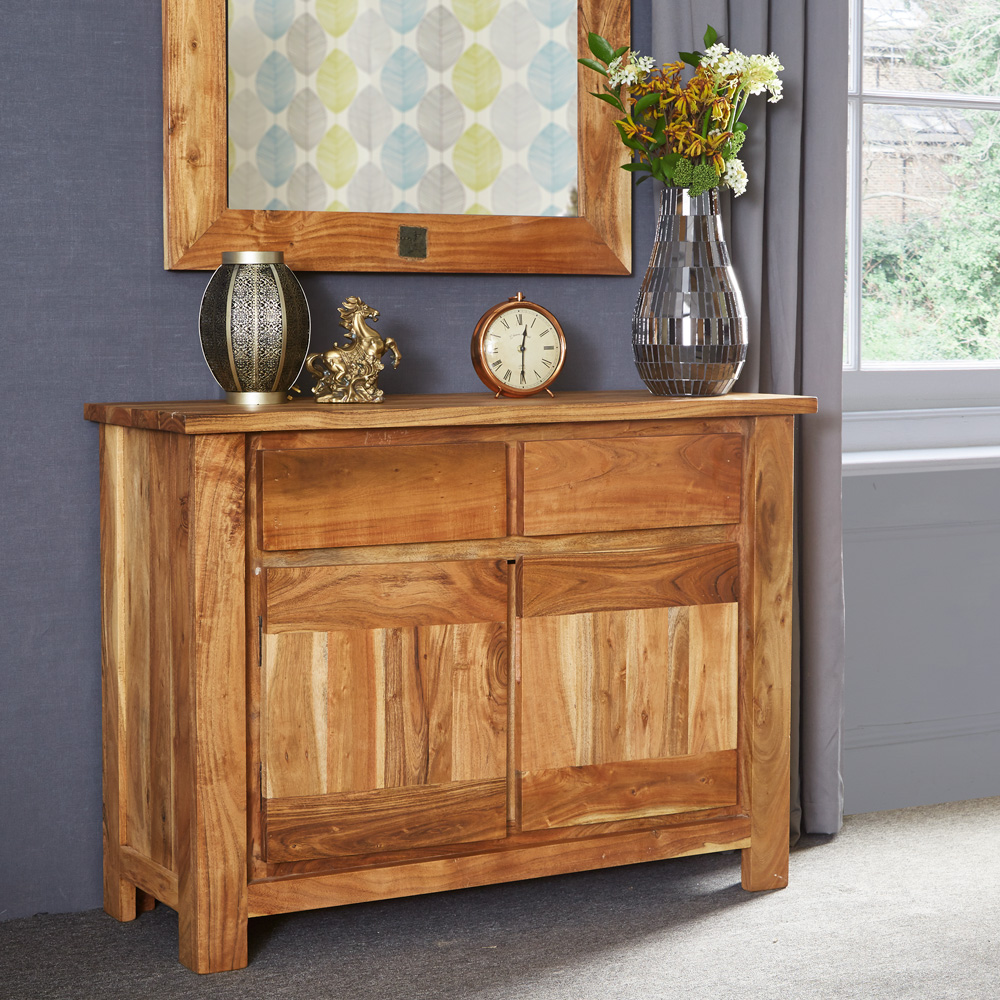 Acacia Wood Door : Tns furniture joda acacia small sideboard