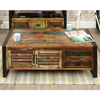 Orissa Reclaimed 4 Drawer Coffee Table