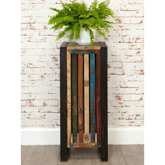 Tns Furniture Orissa Reclaimed Tall Lamp Table Plant Stand
